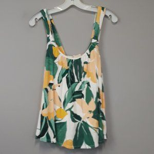 Anthropologie Vanessa Virginia Tropical Floral Top